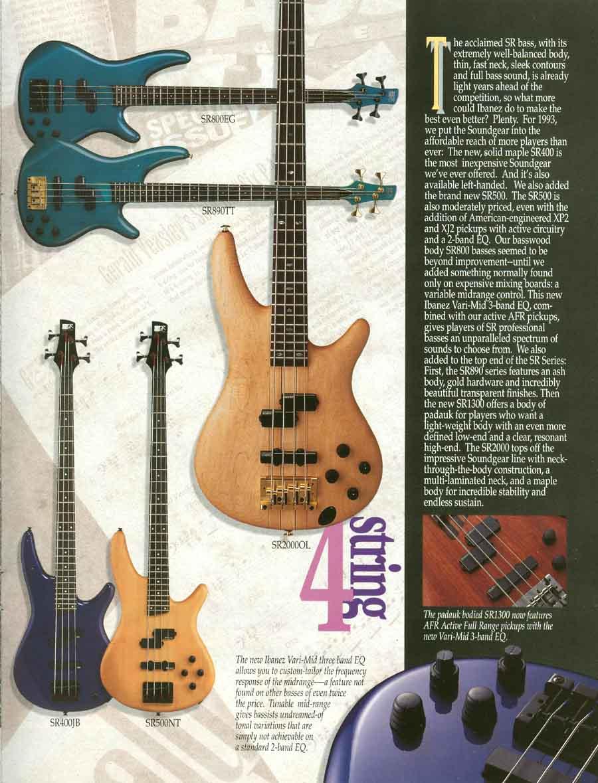 Ibanez Rules 1993 US Ibanez Catalog