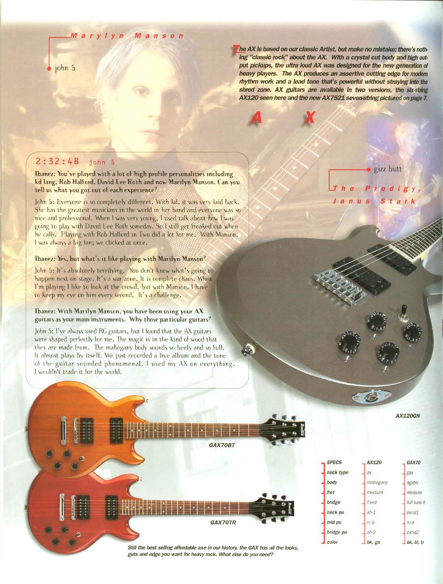 Ibanez Rules 2000 US Catalog