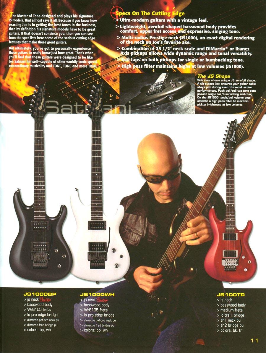 Ibanez Js 1000 Push Pull Wiring Diagram Manual Dimarzio Fred Rules 2001 Us Catalog Prestige Guitar Dia S Series