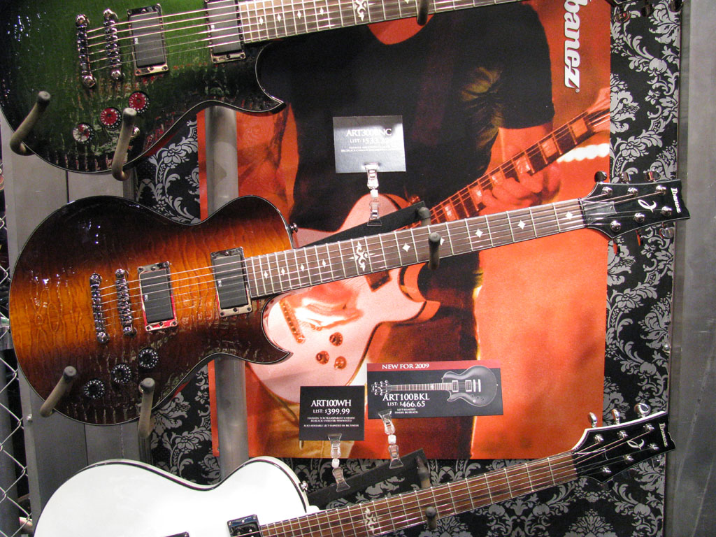 ibanez rules namm 2010 ar arx art. Black Bedroom Furniture Sets. Home Design Ideas